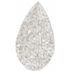 Swarovski Crystal Rock Drop 50x25mm Silvershade Crystal